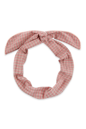 S4-6-4-AHDH2448PK PINK PLAID WIRE SCARF HEADBAND/6PCS