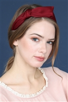 S7-6-1-AHDH2543BU BURGUNDY KNOTTED CLOTHED HAIR BAND/6PCS
