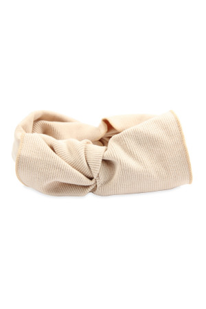S4-5-5-AHDH2545BG BEIGE RIBBON FABRIC HAIR BAND/6PCS
