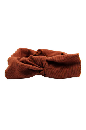 S4-5-5-AHDH2545BR BROWN RIBBON FABRIC HAIR BAND/6PCS