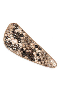 A2-1-4-AHDH2768BR BROWN ANIMAL SCALE PRINTED HAIR CLIP/6PCS
