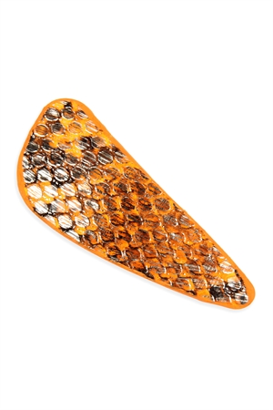 A2-1-2-AHDH2768OR ORANGE ANIMAL SCALE PRINTED HAIR CLIP/6PCS