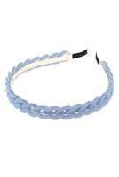 S22-9-3-HDH3040BL-ACRYLIC CHAIN HEADBAND-BLUE/6PCS