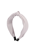 S29-1-5-HDH3254GY-KNOTTED FABRIC COATED HEAD BAND-GRAY/6PCS