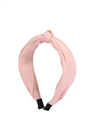 S29-1-5-HDH3254PK-KNOTTED FABRIC COATED HEAD BAND-PINK/6PCS