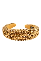 S28-1-5-HDH3297G-RHINESTONE FABRIC COATED HEAD BAND-GOLD/6PCS