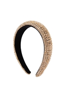 S29-2-5-HDH3298G-ZIRCONIA COATED HEAD BAND-GOLD/6PCS