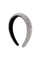 S29-2-5-HDH3298S-ZIRCONIA COATED HEAD BAND-SILVER/6PCS