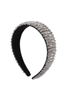 S29-1-4-HDH3299S-CRYSTAL BEADS COATED HEAD BAND-SILVER/6PCS