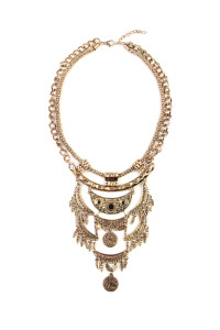 S6-6-4-AHDN1772BG BURNISH GOLD NECKLACE/6PCS
