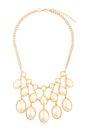 S7-6-3-AHDN1777 VINTAGE OVAL BIB NECKLACE/6PCS