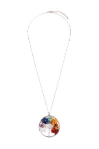 S5-5-2-AHDN1824MT MULTICOLOR TREE OF LIFE LONGLINE NECKLACE/6PCS