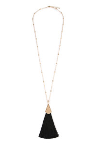 S4-4-2-AHDN1861BK BLACK TASSEL NECKLACE/6PCS