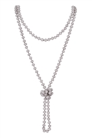 A3-3-1-HDN2209GY GRAY LONGLINE HAND KNOTTED NECKLACE/6PCS