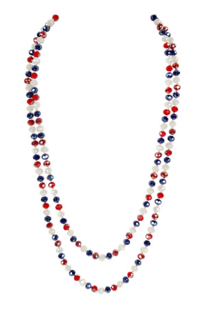 SA4-3-1-AHDN2209USAA USAA LONGLINE HAND KNOTTED NECKLACE/6PCS