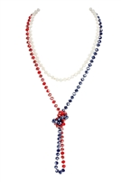 S23-1-1-HDN2209UUSA -  LONGLINE HAND KNOTTED NECKLACE -  USA 3/6PCS