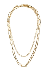 S7-4-1-AHDN2973G GOLD MULTILINE CHAIN NECKLACE/6PCS