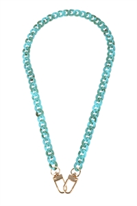 S5-5-5-AHDN2988TQ TURQUOISE MASK OR EYEGLASSES HOLDER ACRYLIC CHAIN  NECKLACE/6PCS