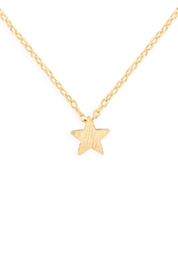 S24-3-3-HDNB2N382GD -STAR PENDANT NECKLACE-GOLD/6PCS