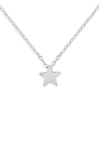 S24-3-3-HDNB2N382OR -STAR PENDANT NECKLACE-SILVER/6PCS