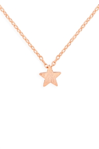 S24-3-3-HDNB2N382PG -STAR PENDANT NECKLACE-ROSE GOLD/6PCS