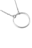 S1-7-4-HDNB2N456OR - CIRCULAR PENDANT NECKLACE - SILVER/6PCS