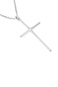 S24-2-3-HDND1N61OR - CROSS PENDANT NECKLACE - SILVER/6PCS