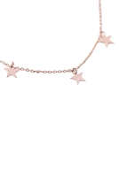 S24-3-3-/S24-2-3-HDND2N33PG - DAINTY SMALL STAR NECKLACE - ROSE GOLD/6PCS