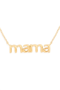 S24-3-3-HDNEN512GD -MAMA PENDANT NECKLACE-GOLD/6PCS