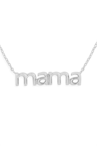S24-3-3-HDNEN512OR -MAMA PENDANT NECKLACE-SILVER/6PCS