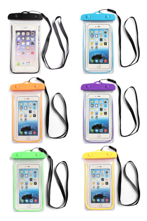 S7-6-1-AHDP1341/HDP1945MIX ASSORTED WATERPROOF CELLPHONE BAG/6PCS