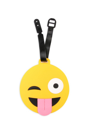 S7-6-3-AHDP1988 CRAZY SMILE LUGGAGE TAGS/6PCS