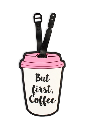 S5-6-2-AHDP2043 COFFEE FIRST LUGGAGE TAG/6PCS