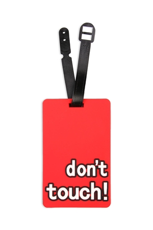 S5-6-2-AHDP2045 DON'T TOUCH RED LUGGAGE TAG /6PCS