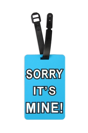 S5-6-2-AHDP2046 IT'S MINE BLUE LUGGAGE TAG/6PCS
