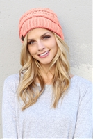 S1-4-2-AHDT2512DPK DUSTY PINK KNITTED BEANIE/6PCS