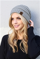 S1-4-1-AHDT2512GY GRAY KNITTED BEANIE/6PCS