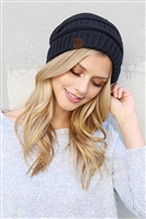 S6-8-1-AHDT2512NV NAVY KNITTED BEANIE/6PCS