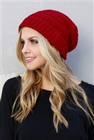 S1-4-2-AHDT2512RD RED KNITTED BEANIE/6PCS