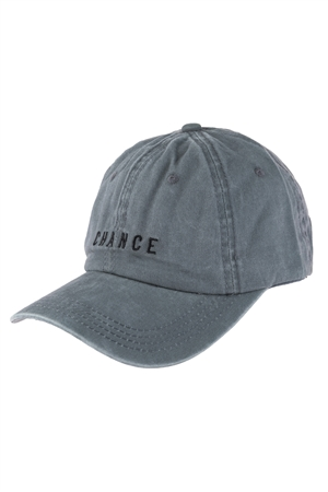 S17-9-2-HDT3228GY-CHANCE EMBROIDERED ACID WASH CAP-GRAY/6PCS