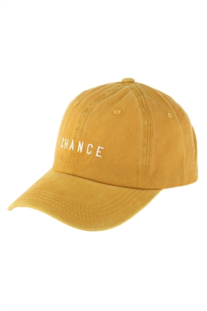 S2-6-4-HDT3228MU-CHANCE EMBROIDERED ACID WASH CAP-MUSTARD/6PCS