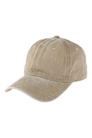 S2-6-4-HDT3232KA-ACID WASHED BASEBALL CAP-KHAKI/6PCS