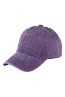 S17-9-2-HDT3232PU-ACID WASHED BASEBALL CAP-PURPLE/6PCS