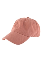 S26-8-1-HDT3234OR-ACID WASHED BASEBALL CAP-ORANGE/6PCS