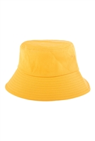 S27-7-5-HDT3236YW-PLAIN BUCKET HAT-YELLOW/6PCS