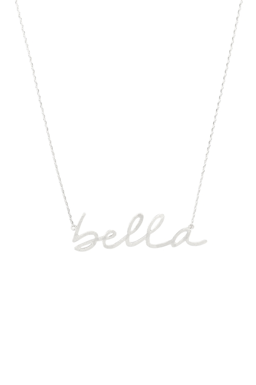 237-K-INA984BS-BELLA PENDANT NECKLACE-SILVER/6PCS