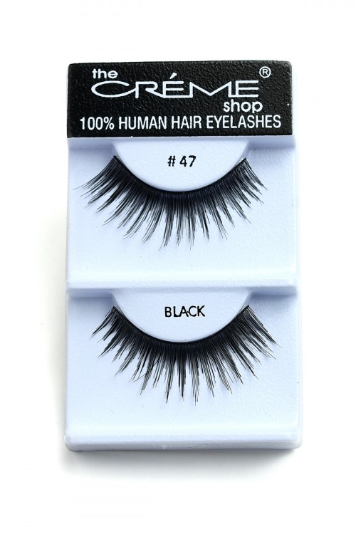 237-I-#47BK CREME EYELASHES/12PCS