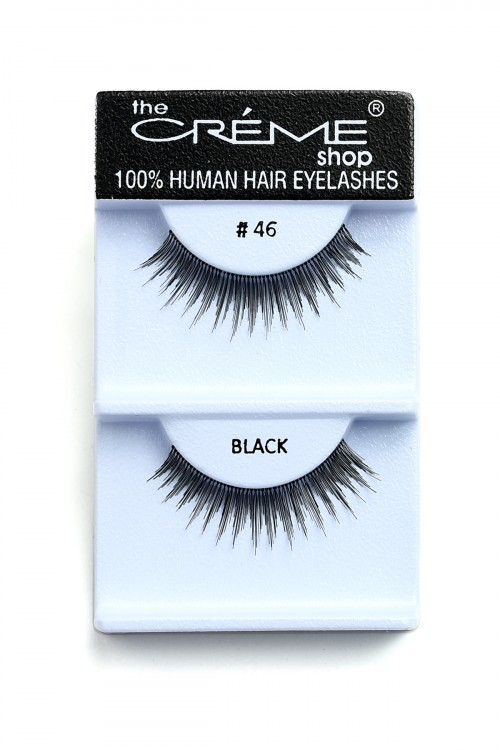 211-2-3-#46BL CREME EYELASHES/12PCS