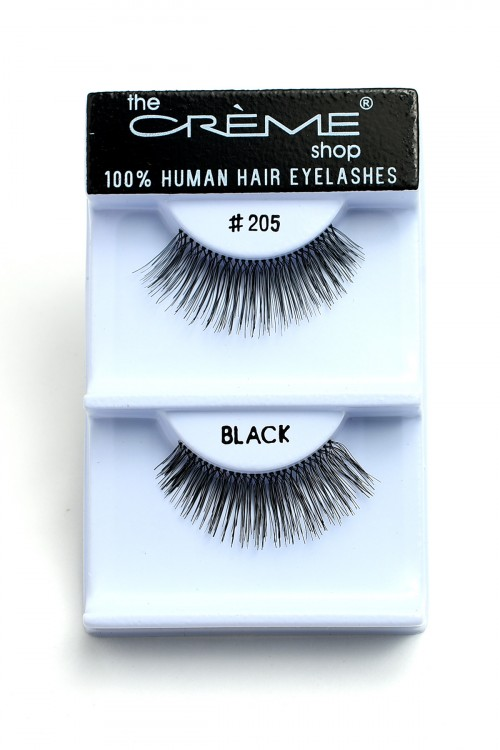 211-2-3-205BL-#205 FASHION BLACK EYELASHES/12PCS