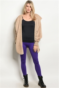 S10-12-1-L1524 PURPLE LEGGINGS / 6PCS